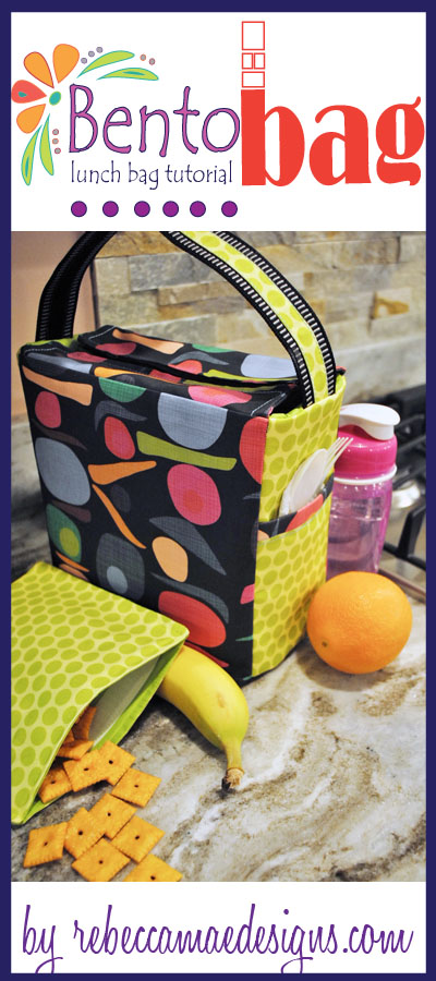 Bento Lunch Bag Tutorial @ rebeccmaedesigns.com