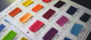 diy color card for tracking fabrics