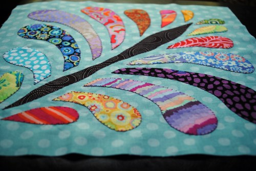 feather plume quilt block of the month sampler