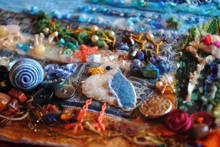 embellished seashore quilt
