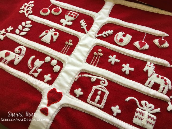 Jul i scandinavia christmas quilt a long wool applique