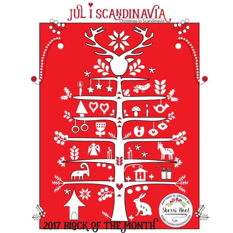 Jul i Scandinavia block of the month quilt pattern