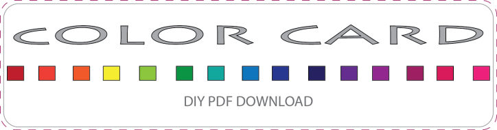 DIY COLOR CARD FREE DOWNLOAD
