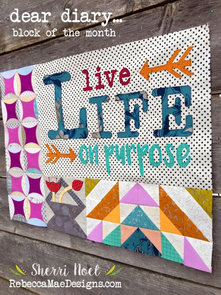 dear diary quilt chapter 2 by sherri noel rebeccamaedesigns.com