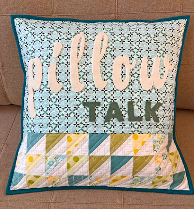 PILLOW TALK from Text It quilt book by sherri noel