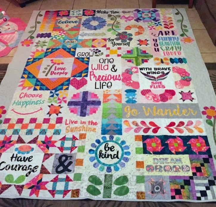block of the month quilt pattern, Dear Daughter from Rebecca Mae Designs