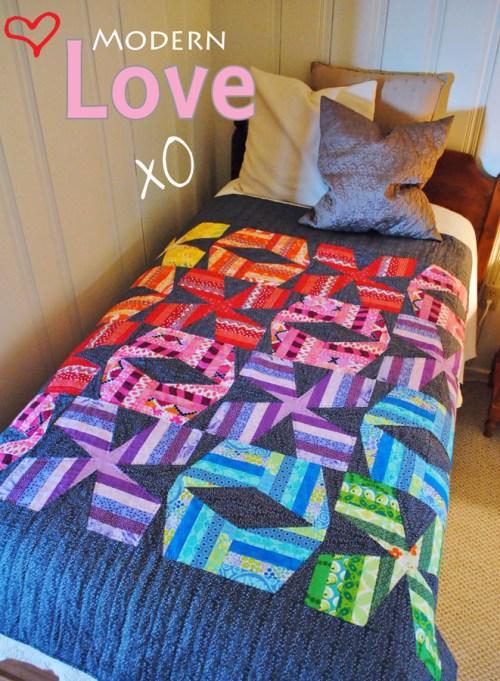 xo scrappy quilt pattern