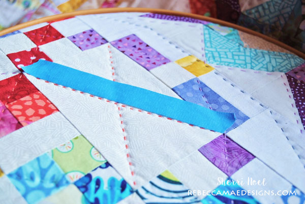 How to do Big Stitch Hand Quilting with Perle Cotton tutorial : hand quilting stitch - Adamdwight.com