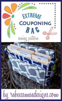 Extreme Coupon Holder Sewing Pattern.  Bag by RebeccaMaeDesigns.com