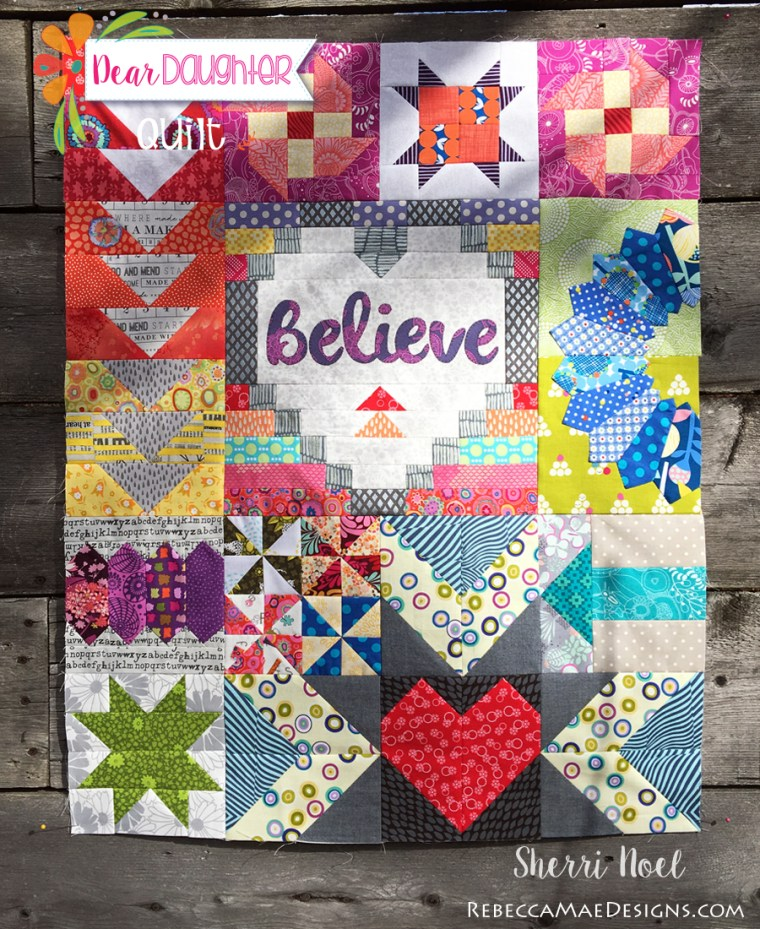 BLOCK OF THE MONTH QUILT - DEAR DAUGHTER PATTERN