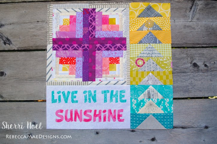 dear daughter block of the month text quilt