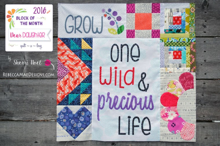 2016 block of the month quilt