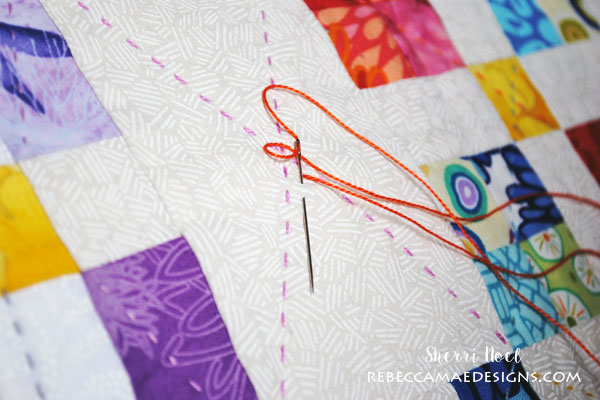 How To Do Big Stitch Hand Quilting With Perle Cotton Tutorial