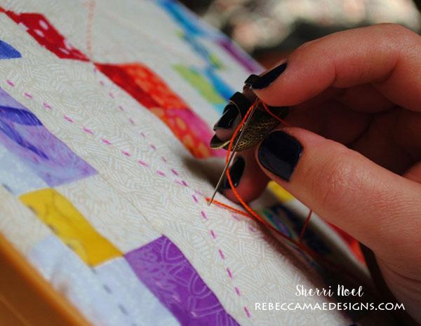 big stitch quilting tutorial