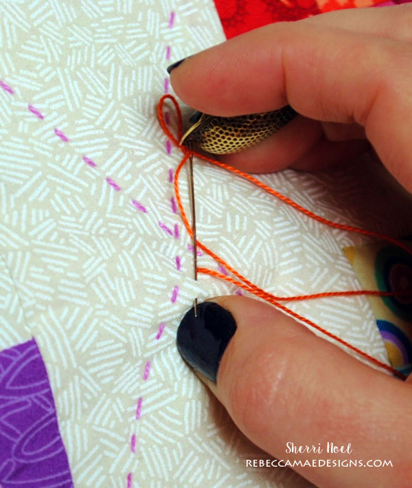 How to do Big Stitch Hand Quilting with Perle Cotton tutorial : thread for hand quilting - Adamdwight.com