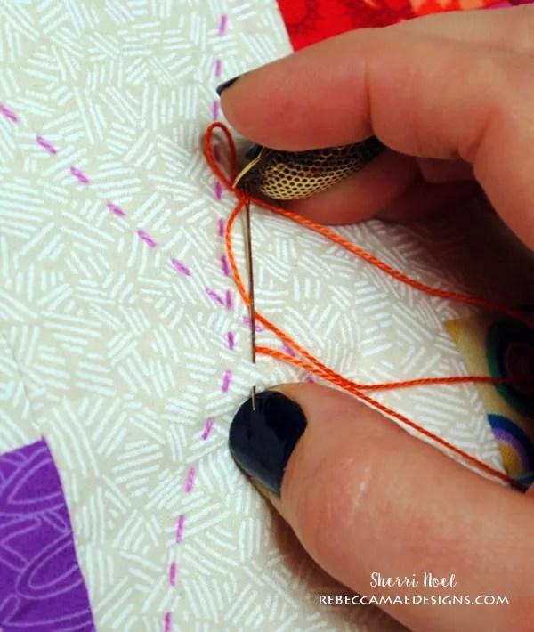 big stitch hand quilting