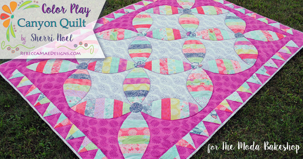 """Color Play"" Free Scrap Quilt Pattern designed by Sherri Noel from Rebecca M. Designs"