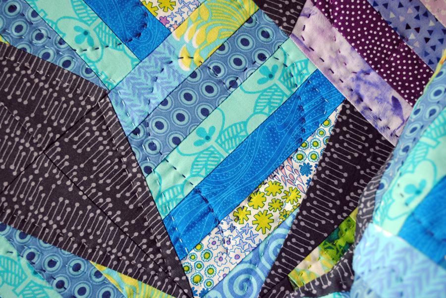 Modern XO Quilt Pattern & Big Stitch Hand Quilting Tutorial with Perle Cotton