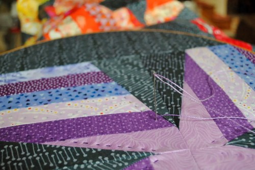 big stitch quilting with perle cotton