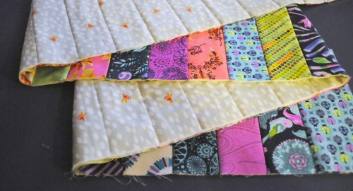 quilt as you go tutorial stitch and flip method
