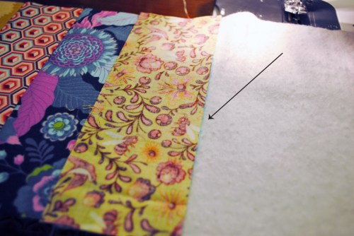 quilt as you go stitch and flip method tutorial