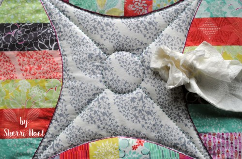 big stitch hand quilting with perle cotton