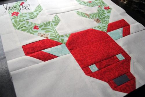 quiltmakers 100 blocks christmas reindeer quilt block