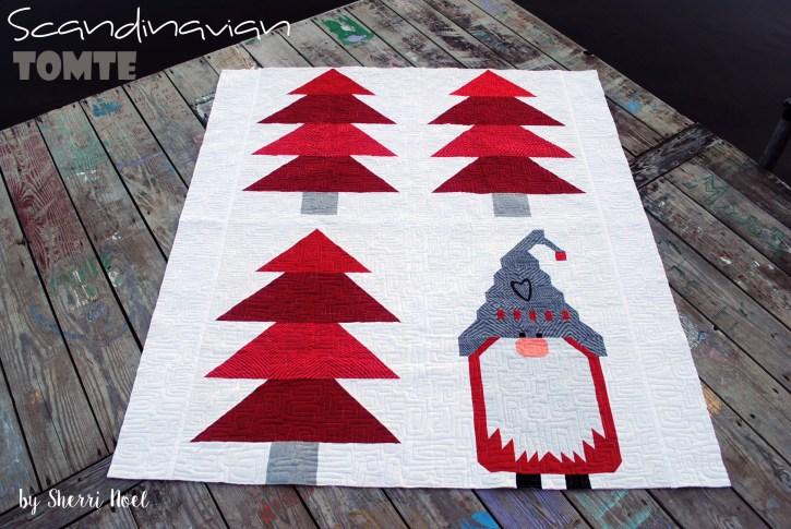 Scandinavian Tomte, Christmas quilt pattern