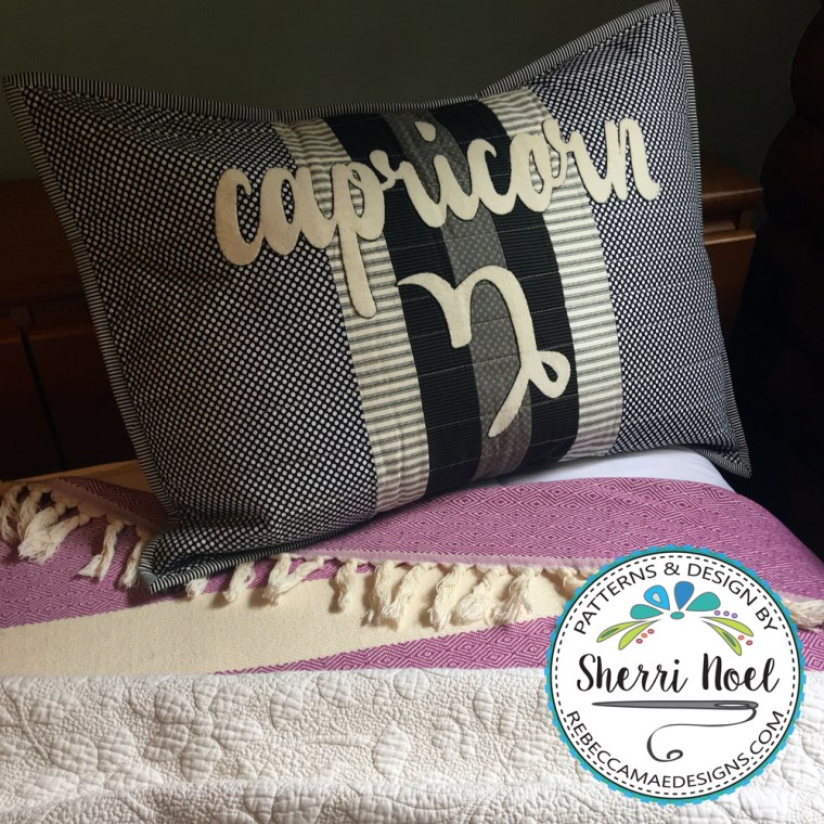 zodiac pillow sham pattern