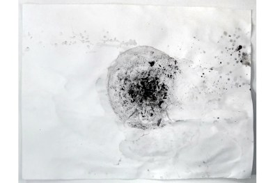 Melted 4 ice (dirt, water) on paper, 50 x 38 2009