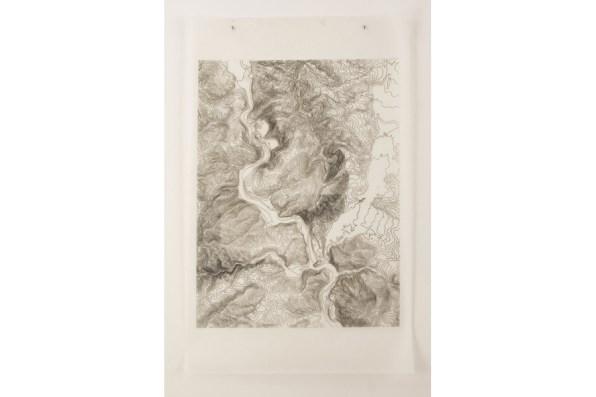 Potomac, 18x24, Ink Drawing on Vellum