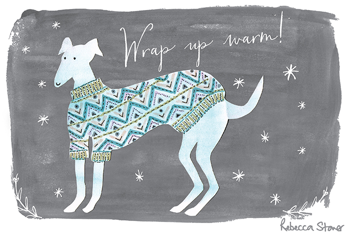 Wrap Up Warm by Rebecca Stoner, taken from her 2016 Illustrated Calendar