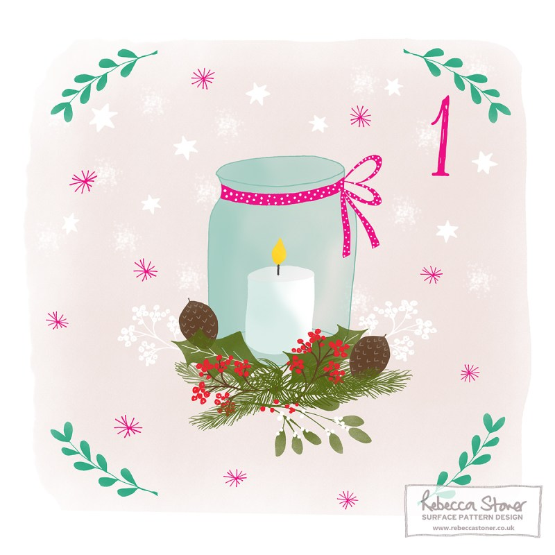 Illustrated Advent Day 1 by Rebecca Stoner