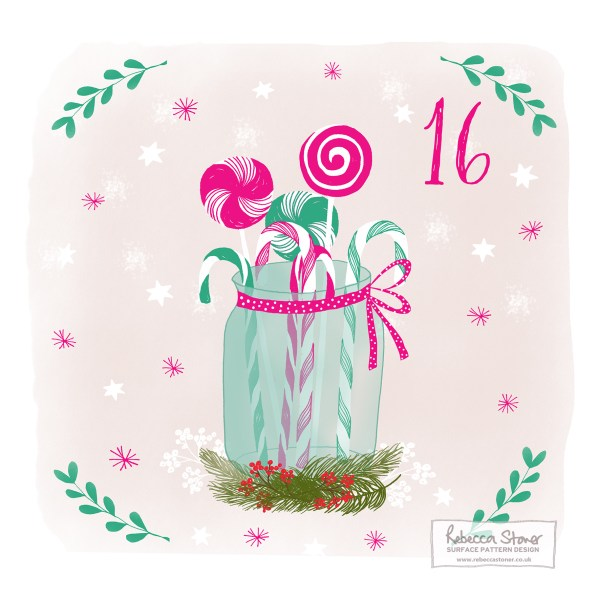 Illustrated Advent Day 16 by Rebecca Stoner