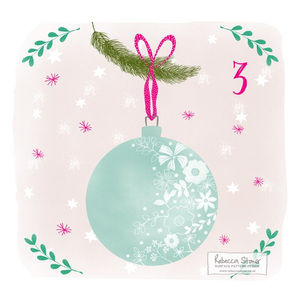 Illustrated Advent Day 3 by Rebecca Stoner