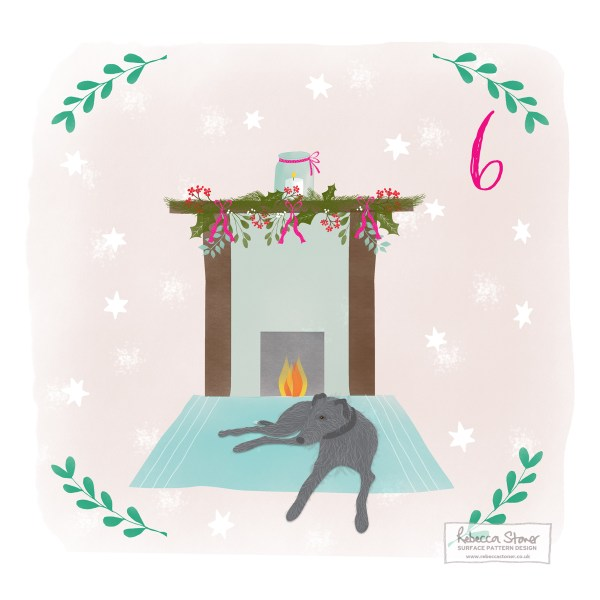 Illustrated Advent Day 6 by Rebecca Stoner