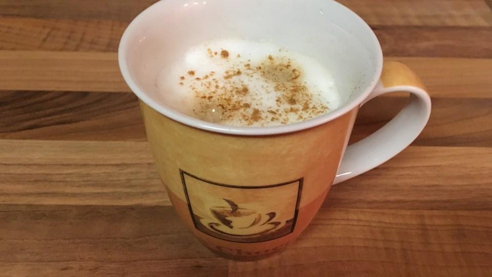mein letzter Milchkaffee…..