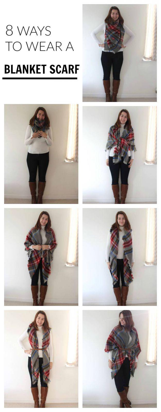 8 Ways To Wear A Blanket Scarf Rebel Angel
