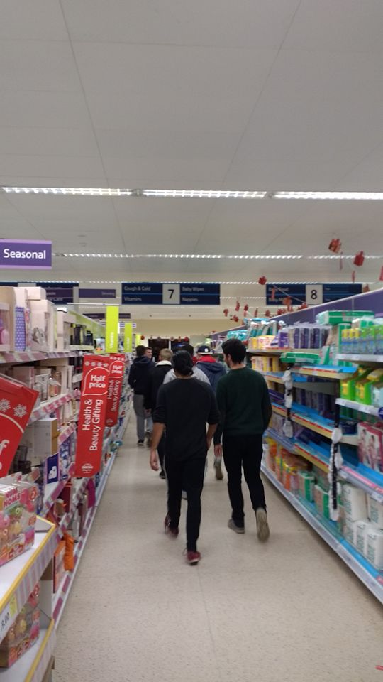 Hockey Team in Tesco