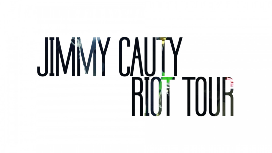 Title page for the video of Jimmy Cauty's Riot Tour