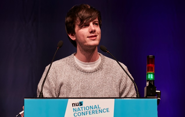 NUS Vice-President for Union Development, Richard Brooks.