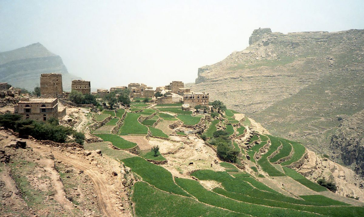 A picture of a vast landscape in Yemen