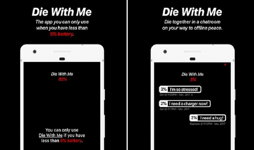 Die With Me: Chat-App funktioniert nur bei niedrigem Akku