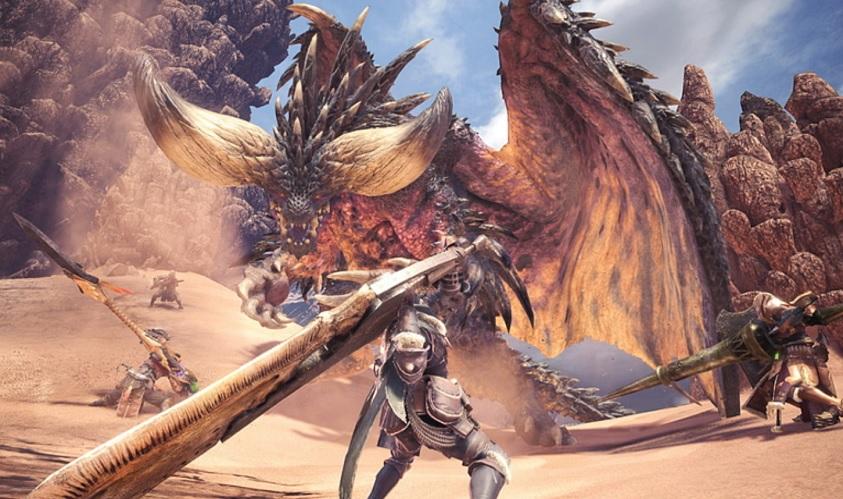 Kirin tobt in Monster Hunter: World