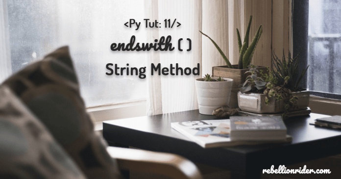 Python String Methods Endswith by Manish Sharma