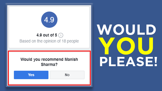 would-you-recomend-Manish Sharma on Facebook