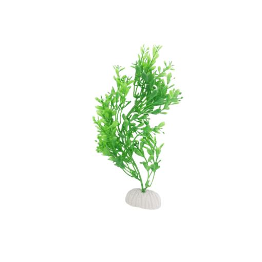 Plastic Plant Green Narrow Leaf Bush 200 mm