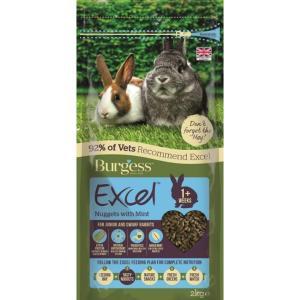 Burgess Excel Junior n Dwarf Rabbit Nuggets 2kg at Rebel Pets