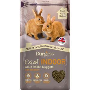 FB10014BB4 Burgess Excel Indoor Rabbit Nuggets with Dandelion 1.5kg at Rebel Pets