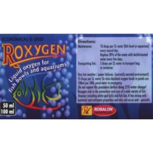 Roxygen Liquid Oxygen Label at Rebel Pets
